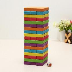 54st Multi Trä Byggstenar Barn Pedagogiska Leksaker