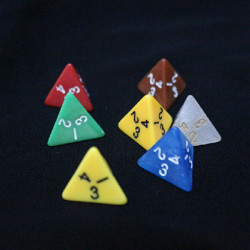 5stk / set vierseitige Würfel Dungeons & Dragons Series Brettspiel Würfel
