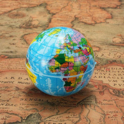 60mm World Map Foam Earth Globe Geography Ball