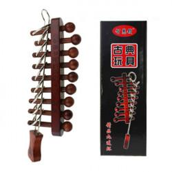 9 Ringe Holz und Metall Klassische chinesische Ringe Puzzle