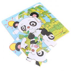 9stk Holz Panda Puzzle Educational Baby Kind Ausbildungsspielzeug