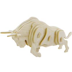 Bull 3D Trä Pussel Plywood Craft DIY Entreprenad Modell