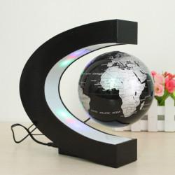 C Form Magnetschwebetechnik Schwebender Globus Weltkarte mit LED Leuchten