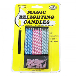 Cannot Blow Out Relighting Candles 2 Pack 18 Candle Practical Joke