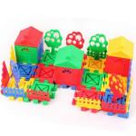 Børn Pædagogisk Legetøj DIY Building Plast Blocks Farverige House Pædagogisk Legetøj