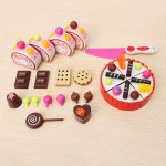 Children Play House Toys Chocolate Cake Assembled Birthday Gift Ideas Game & Scenery Toy