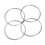 Chinese Magic 4 Linking Rings Silver 4 PCS Game & Scenery Toy
