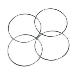 Chinese Magic 4 Linking Rings Silver 4 PCS