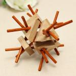 Klassische Intellectual Spielzeug Kong Ming Lock Gummi Holz Lernspiele
