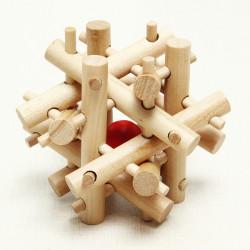 Classical Intellectual Toys Kong Ming Lock Twelve Rubber Sticks