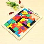 Bunte Holz Gehirn Teaser Puzzle für Kinder Lernspiele