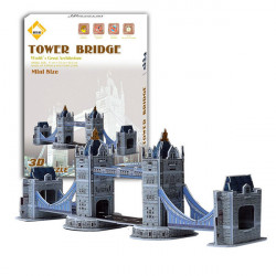 Colourful Carboard Jigsaw Model 3D DIY Puzzle Tower Bridge 32pcs