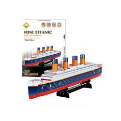 Färgrik Carboard Sticksåg Modell 3D Pussel Titanic 30st DIY