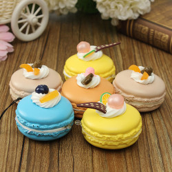 Cute Soft Frugt Cake Squishy Cell Phone Kawaii Gavepose Strap