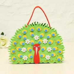 DIY Handmade Animals Peacock Bags Sewing EVA Handbags