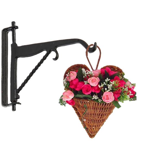 Puppenhaus Miniatur Blumenampel Haken Halter Garten Zubehör Spiel
