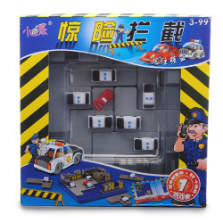 Educational Toy Breathtaking Policeman Chase Thief Block Maze Game