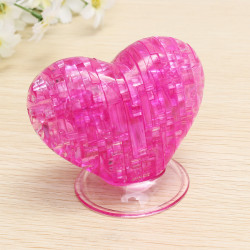 Educational Toys 3D Crystal Puzzle Heart Blocks Toys