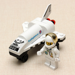 Enlighten Mini Space Shuttle Spacecraft Plane Educational Toys Gift For Children