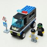 Erleuchten Patrol Wagon Polizeiauto Blocks pädagogisches Spielzeug Lernspiele