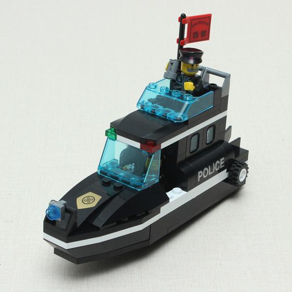 Erleuchten SWAT Special Police Speedboat Versammlung Puzzle pädagogisches Spielzeug Lernspiele