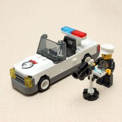Enlighten Speed Test Detector Politi Bil Squadrol Blocks Pædagogisk Legetøj