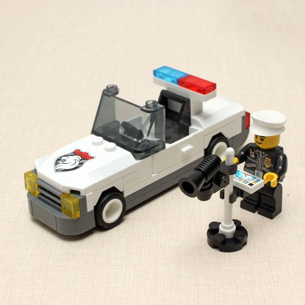 Enlighten Speed Test Detector Politi Bil Squadrol Blocks Pædagogisk Legetøj Pædagogisk Legetøj