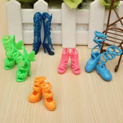 Mode Mix 5 Paar verschiedene Schuhe Stiefel für Barbie Puppe