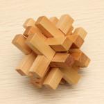 Lustige chinesische traditionelle Holz Lernspielzeug Puzzle Verschluss Lernspiele