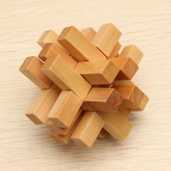 Sjov Traditionelt Kinesisk Træ Pædagogisk Legetøj Puslespil Lock