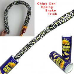 Funny Magic Chips Popcorn Can Flexible Spring Trick Joke Kids Toy