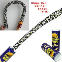 Roliga Magi Chips Popcorn Can Flexibel Spring Trick Skämt Barn Leksak
