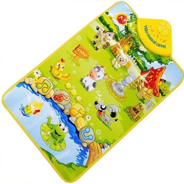 Happy Farm Musical Gesang Gym Teppichmatte Lernspiele