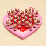Heart Shape Animal Wooden Chinese Checkers Toys Educational Toy Educational Toys