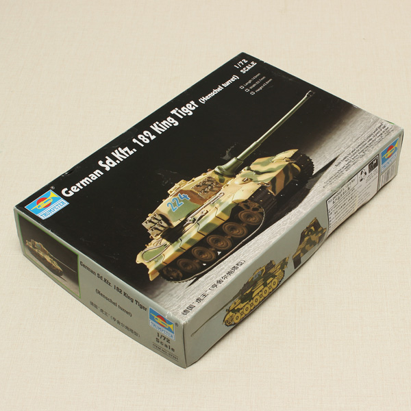 Hobbyboss Trumpeter Deutsch SD.KFZ.182 Königstiger Henschel Revolver Tank 1/72 Spielzeugmodell & Modellbausätze
