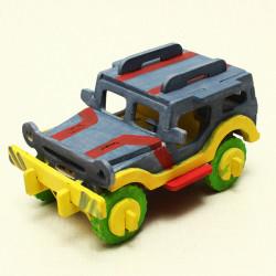 Jeep DIY Färgglada Pussel Pedagogiska Leksaker för Barn