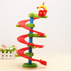 Hoppa Bönor Spirality Shape Rail DIY Building Byggklossar Utbildning Leksak