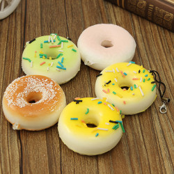 Kawaii Donuts Soft Squishy Mobiltelefon Chain Cute Strap