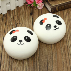 Kawaii Jumbo Panda Squishy Buns Cell Phone Bag Strap Vedhæng