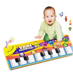 Keyboard Musik Tæppe Mat Blanket Børn Lær Singing Educational
