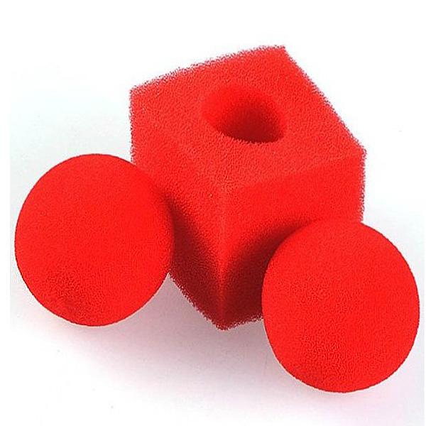 Kingmagic Magic Bold til Square Svampe Tricks Set Red Spil & Lege