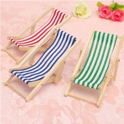 Lovely Dolls House 1:12 Scale Miniature Foldable Wooden Deckchair