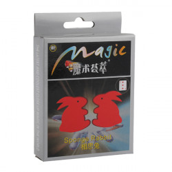 Magic And Cute Red Sponge Rabbit Toy