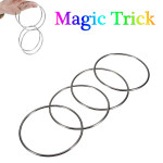 Magiskt Trick 4 Kinesiska Linking Rings Set For Kids Stage Magiskt Trick Spel & Lek