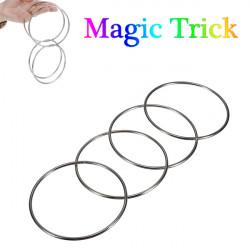 Zaubertrick 4 chinesische Verbindung Ringe Set für Kinder Bühnenzaubertrick
