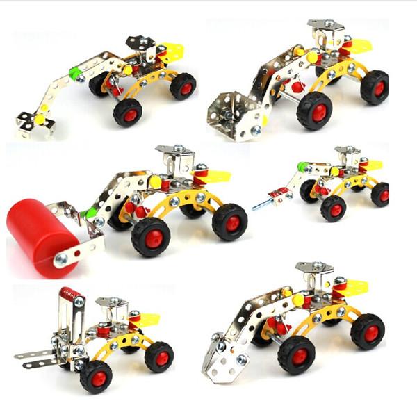 Magische Modell DIY Metallbefestigungsfahrzeugmetallblöcke Lernspielzeug Lernspiele