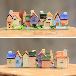 Micro Miniature Resin Small House Villa Ornaments Garden