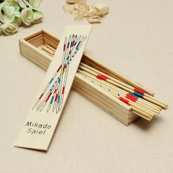 Mikado Spiel Spil Sticks Træ Legetøj Voksne Børn Intelligence Legetøj Pædagogisk Legetøj