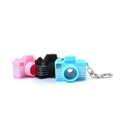 Mini Flash Joking Camera Toy Led KeyRing Camera