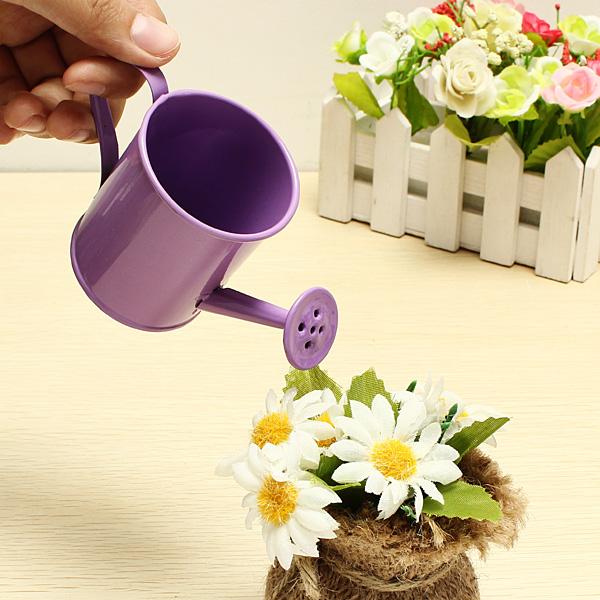 Mini Blomma Tin Garden Hink Plåtask Foto Props Coola Prylar